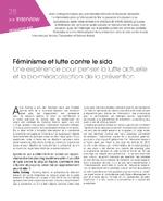 Féminisme et lutte contre le sida : une expérience pour penser la lutte actuelle et la bio-médicalisation de la prévention - application/pdf