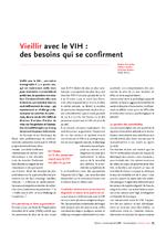 Vieillir avec le VIH : des besoins qui se confirment - application/pdf