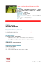 Fiche descriptive - Zones de tolerance - application/pdf