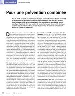 Pour une prévention combinée - application/pdf