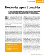Monde : des espoirs à consolider - application/pdf