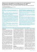 Connaissances, perceptions et pratiques vis-à-vis de l'hépatite B en population générale en France métropolitaine en 2010 - application/pdf