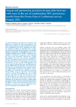 Sexual and prevention practices in men who have sex with men in the era of combination HIV prevention : results from the Presse Gays et Lesbiennes survey, France, 2011 - application/pdf