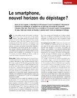 Le smartphone, nouvel horizon du dépistage ? - application/pdf