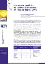 Nouveaux produits de synthèse identifiés en France depuis 2000 - application/pdf