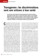 Transgenres : les discriminations sont une entrave à leur santé - application/pdf