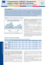 Consommation d'alcool : fréquence et usage à risque chez les franciliens - application/pdf