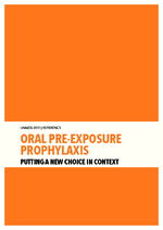 Oral pre-exposure prophylaxis : putting a new choice in context - application/pdf