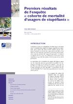 """Premiers résultats de l'enquête """"cohorte de mortalité d'usagers de stupéfiants - application/pdf"""