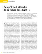 Ce qu'il faut attendre de la future loi santé - application/pdf