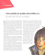 Une patate et quatre allumettes ou : journal d'un corps - application/pdf