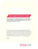 Déclaration de Catie sur l'utilisation de la thérapie antirétrovirale (TAR) et d'une charge virale indétectable pour prévenir la transmission sexuelle du VIH - application/pdf