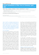 Sexual transmission of Zika virus in Germany, April 2016 - application/pdf