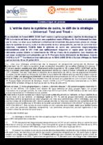 L'entrée dans le système de soins, le défi de la stratégie Universal test and treat - application/pdf