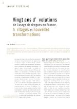 Vingt ans d'évolutions de l'usage de drogues en France, héritages et nouvelles transformations - application/pdf