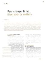 Pour changer la loi, il faut sortir du sanitaire - application/pdf