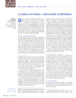 Le tabac en France : entre coûts et bénéfices - application/pdf